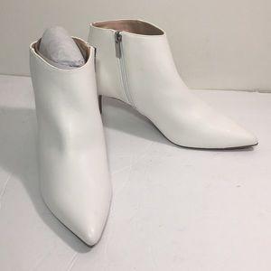 White bootie size 9